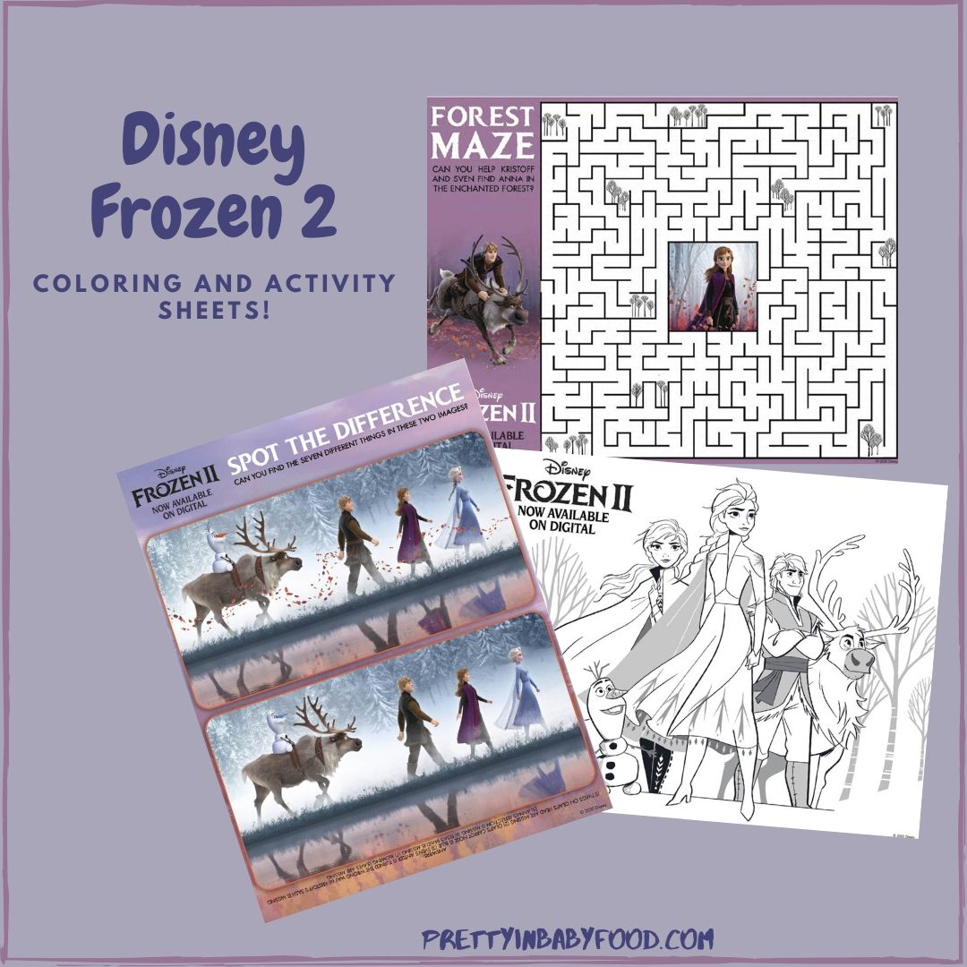Frozen 2 Coloring and Activity Sheets!