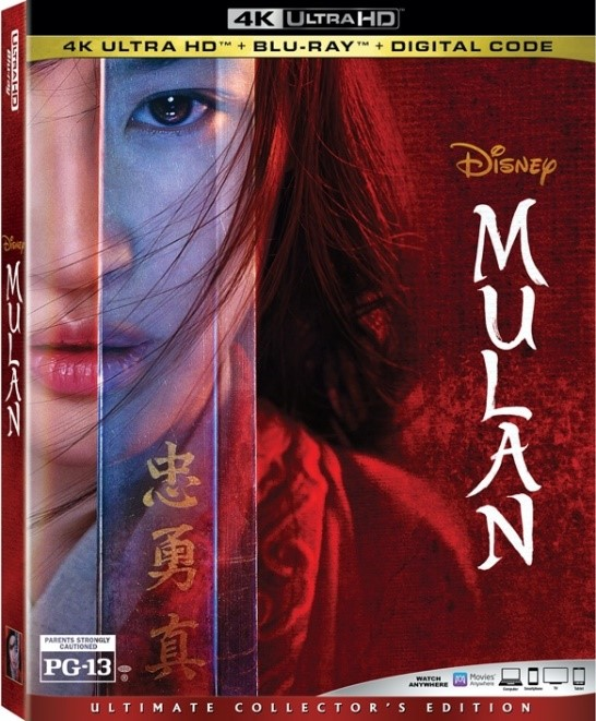 Disney's Live-Action Mulan on 4K, Blu-ray, and DVD