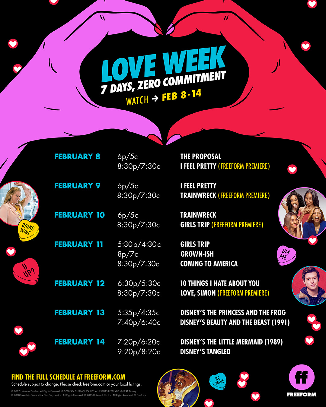 Love Week on Freeform Schedule