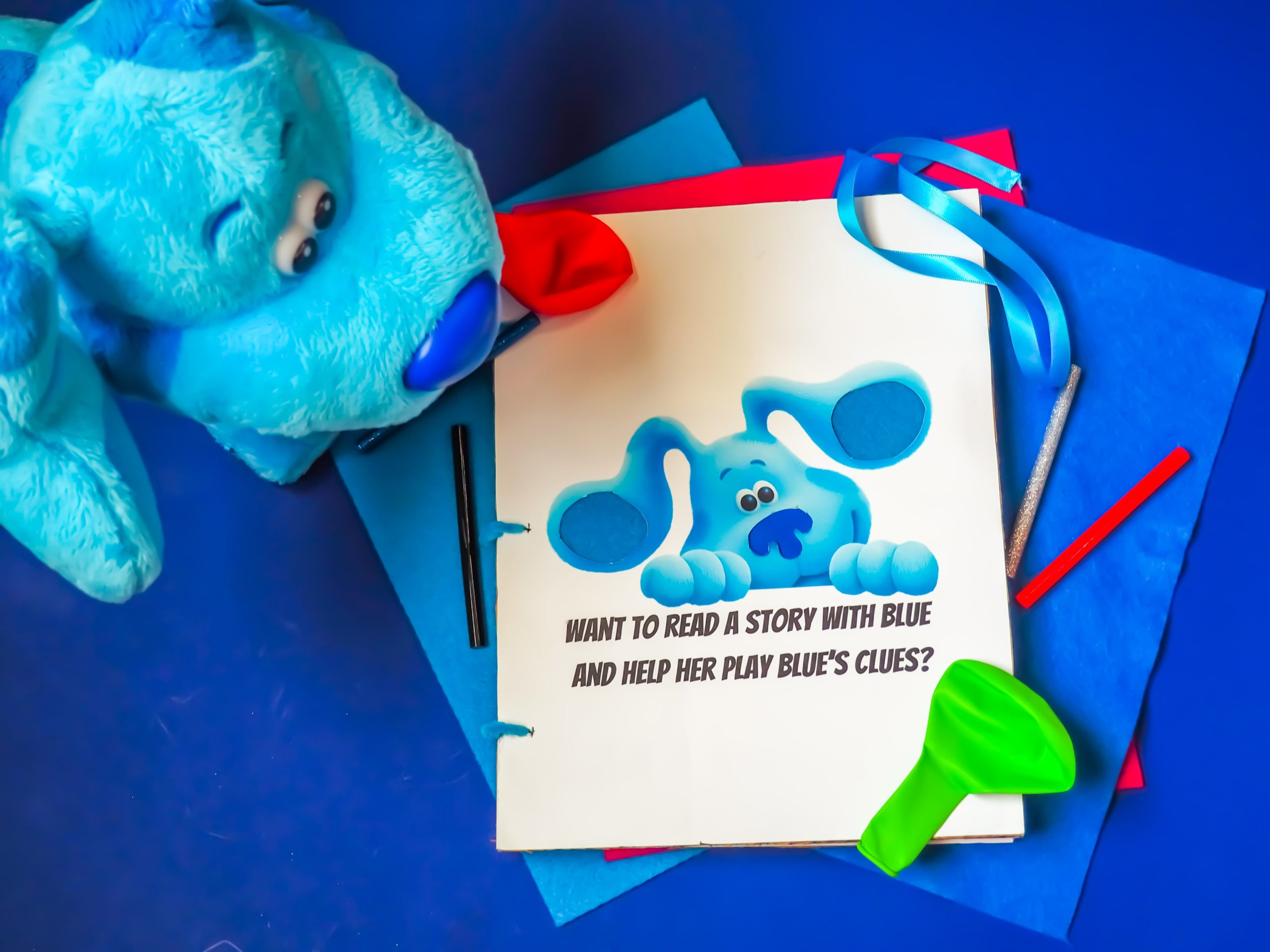 Blue's Clues & You! Craft: Story Time with Blue Touch/Feel Book