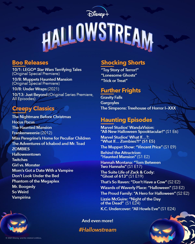 Disney+ Hallowstream 2021 Programming Lineup